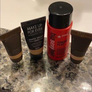 Becca & makeup forever foundation samples